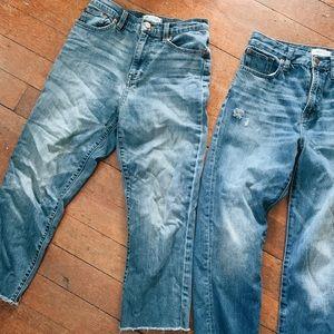 Madewell Vintage Summer Jeans Crop 26 (left set)